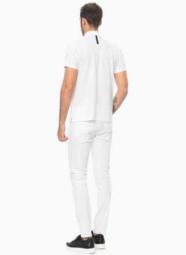 Que Slim Fit Polo Yaka Tişört Beyaz
